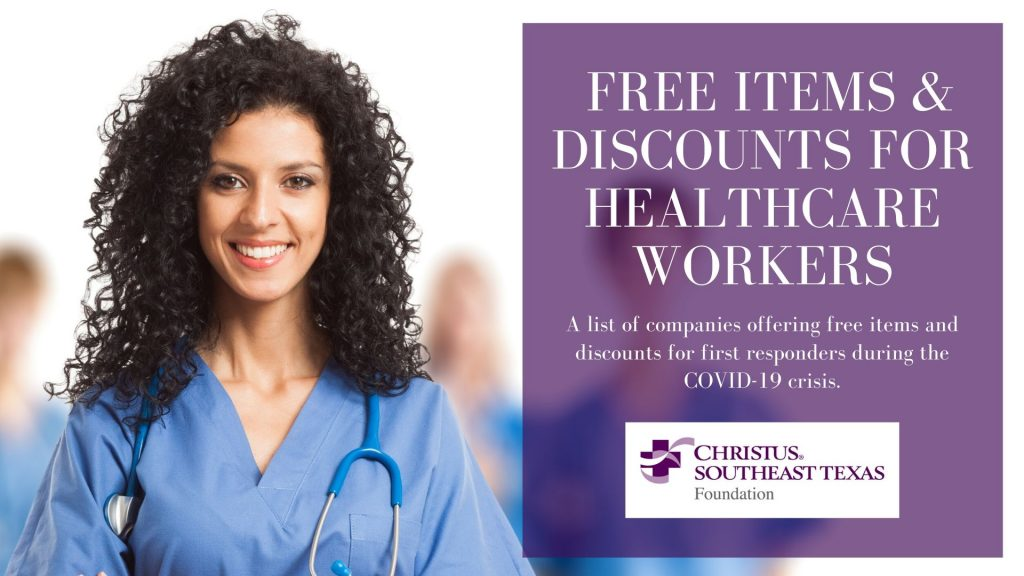 Free Items & Discounts for Healthcare Workers